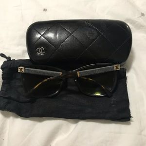 Chanel Tortoise and Denim Sunglasses